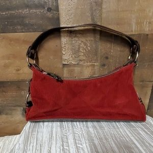 Tommy Hilfiger Small red corduroy bag